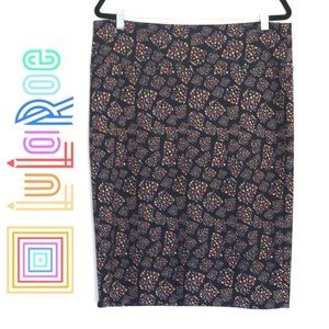Navy Blue Geometric - LulaRoe- Cassie Skirt